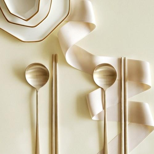 놋담 방짜유기 달 유기수저 4인세트 유기그릇
