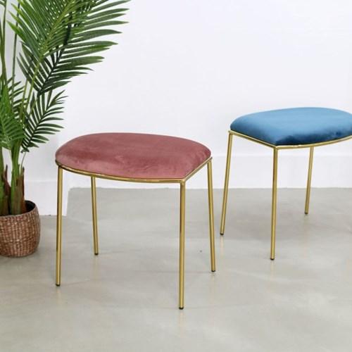 노블D 골드스툴 - 화장대의자 식탁의자 카페의자