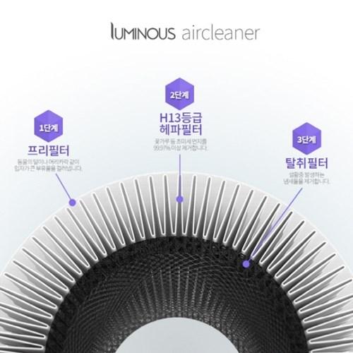 엠지엠씨 루미너스 소형 공기청정기(H13 헤파필터1개 포함)
