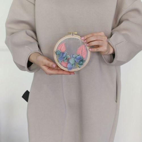 포시즌가든 투명자수 시리즈 KIT - 수국 Hydrangea (2color)