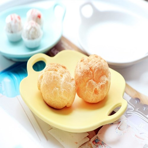 [멜라민웨어] 사각 핸들앞접시-예쁜그릇 캠핑식기 유아식기