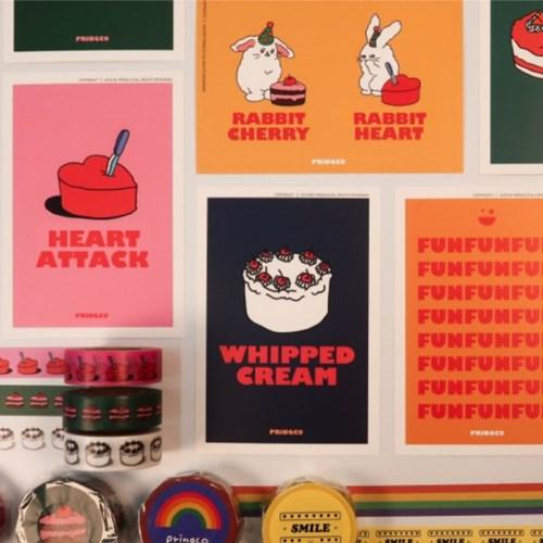 프링코 케이크 엽서세트