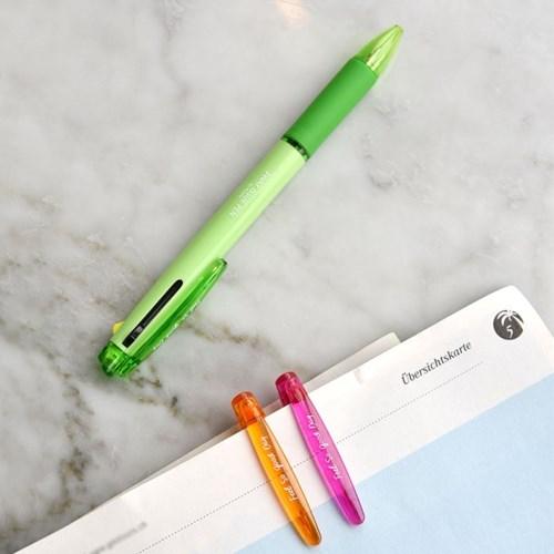 3way Issue Pen (블랙,레드,형광옐로우 3색심)