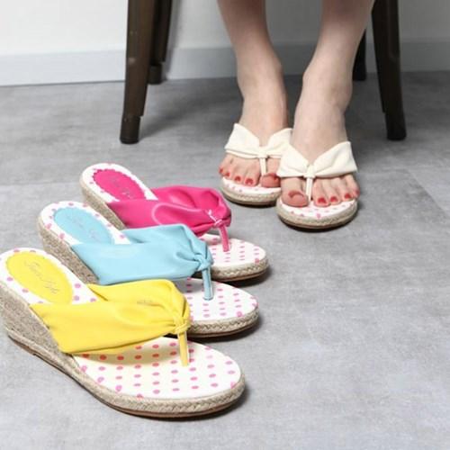 kami et muse Esapdrille wedge heel flip flop _KM19s167