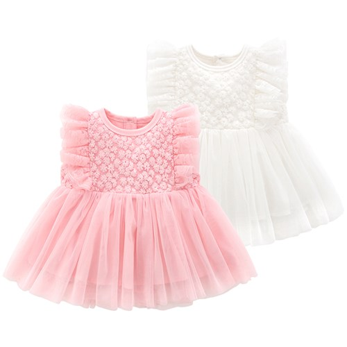 작은 꽃잎 아기 드레스(0-18개월) 203865_(902717743)