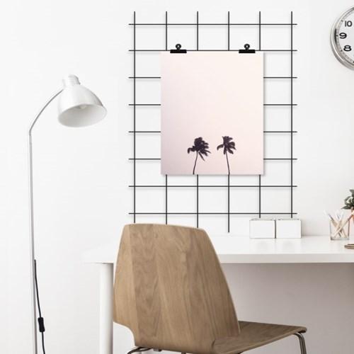 핑크스카이 야자수 보테니컬 그림 인테리어 액자 포스터