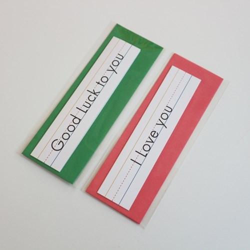 Folding Message Card 5종 - 축하/생일/감사/사랑/행운 (메세지카드)