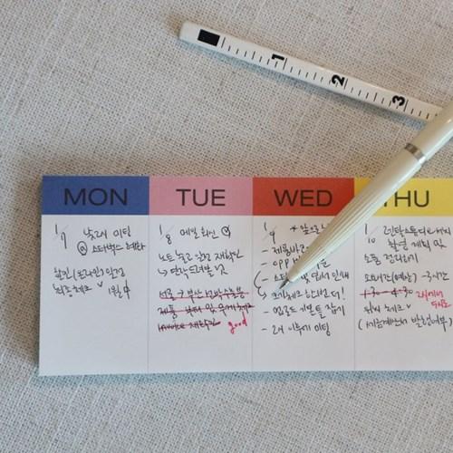 Memo Pad - Weekly (위클리 메모패드)