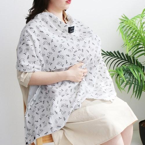 코니테일 수유가리개 - 피치 (아기띠바람막이 워머)