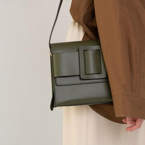 Athe buckle bag  Deep green/ 아테 버클백 딥그린