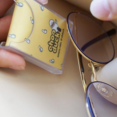 오우덕 휴대용 초극세사 안경닦이 2P (보관 케이스 포함)