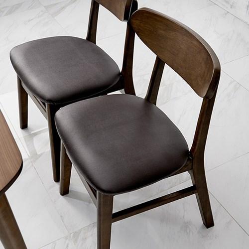 [데코마인] 시드 고무나무원목 쿠션체어 식탁의자 원목의자