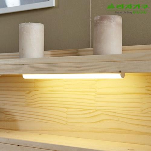 라자가구 오브 LED 버디 Q 독립스프링 평상형 원목침대 CS0116