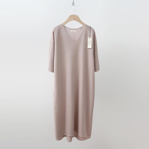 Hoega Linen V-Neck Knit Dress