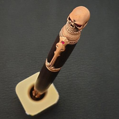나모 해골 시그니처 볼펜, 수제 원목 펜, 이니셜 각인 서비스