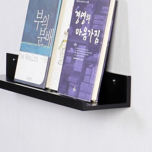 우드 레일 인테리어 북선반 600-블랙