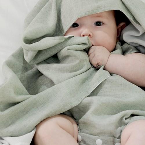 [젤리맘] 르베르소 신생아 3종선물set여름블랭킷+바디슈트+헤어밴드