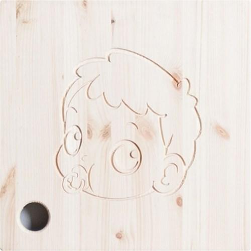 삼나무 원목 공간박스 와이드 오픈형 1단4칸