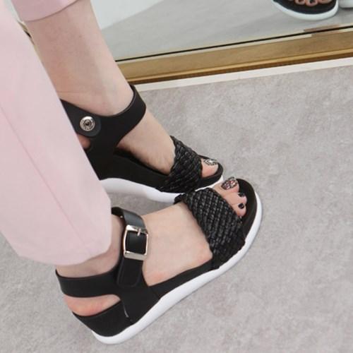 kami et muse Mesh strap platform wedge sandals_KM19s280