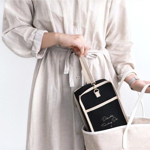 코니테일 마망 파우치 - 블랙 (기저귀파우치 유모차정리함 가방)