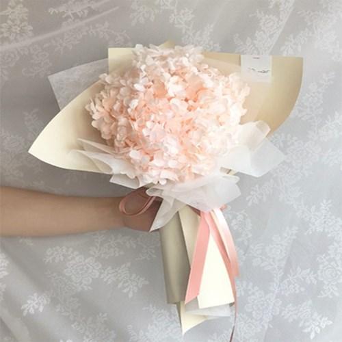 프리저브드 핑크 수국 꽃다발
