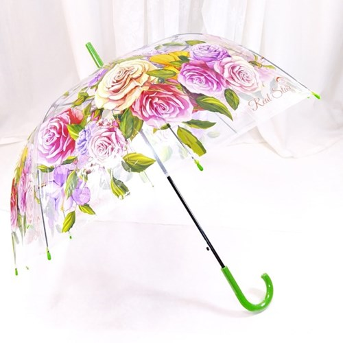 TW 블로썸 투명 비닐 우산 돔모양 장우산