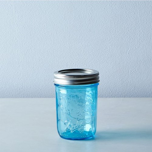 볼 메이슨자 블루 중사이즈 유리병 하프파인트 4p 세트 8oz(224ml)