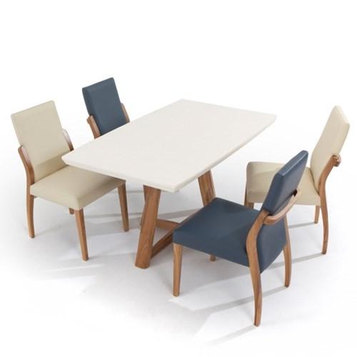 하임 4인용 천연 대리석 식탁 세트