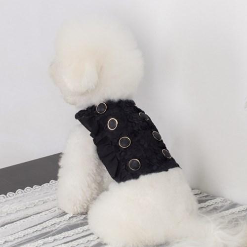 에덴숑-Vivid button blouse-Black(비비드 버튼 블라우스)