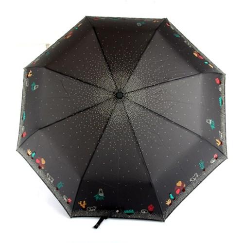 [더로라]기라로쉬 완자 3단 우산 - 고양이와 선인장 E907
