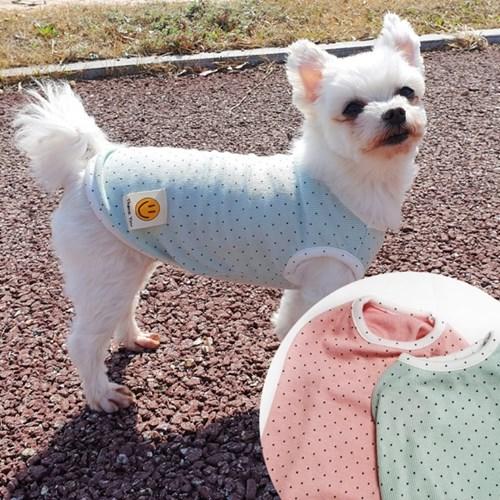 도트스마일 면스판 강아지티셔츠 애견옷 강아지옷