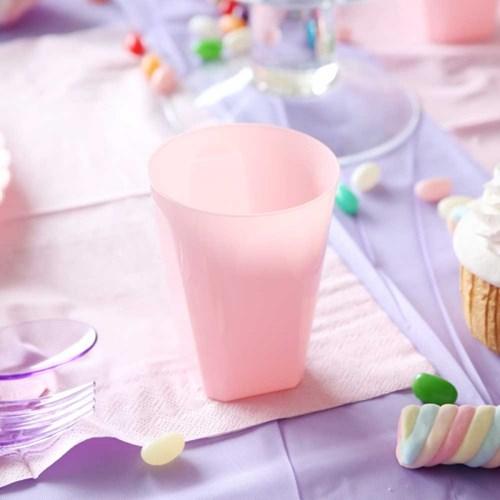 칼라 파티컵 사각-핑크(6입)