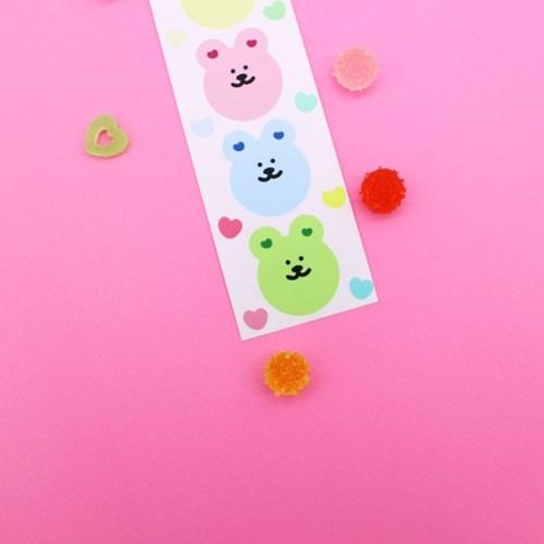 [한톨상점]귀하트 반곰이 씰스티커