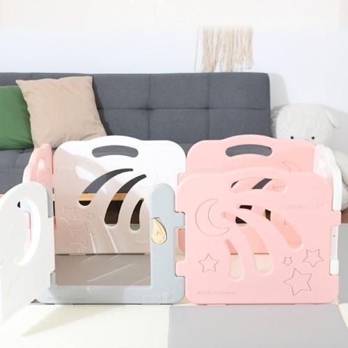 콤마아이 베이비룸 6p 핑크(문포함) 아기안전펜스