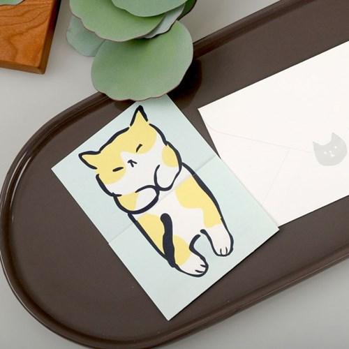 우리집 고양이가 이상해_노랑이 고양이 편지지