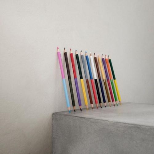 덴마크 디자인 모노그래프 색연필 12자루 24색