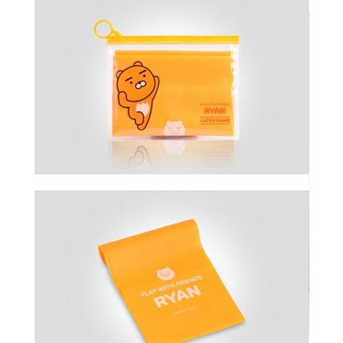 카카오프렌즈 플레이위드 카카오 라텍스밴드 요가밴드 라이언 0.35mm