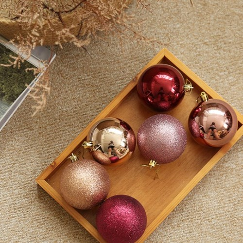 크리스마스 믹스볼 8cm (4개SET) [3color]_(682018)