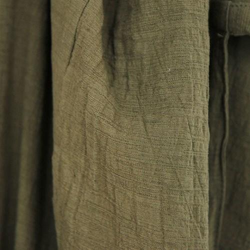 린넨 면 버클 롱 앞치마 - 2color