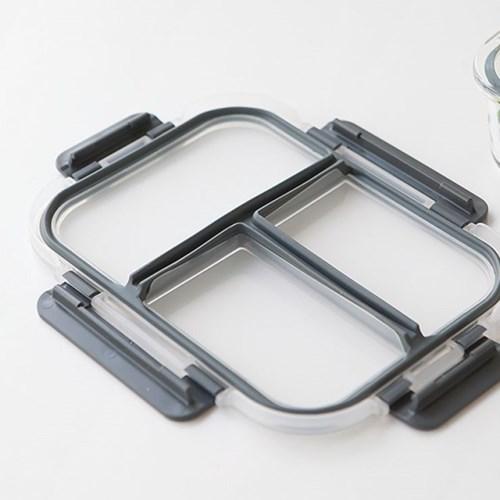 니코트 냉장냉동 글라스 3칸 나눔찬통 1500ml