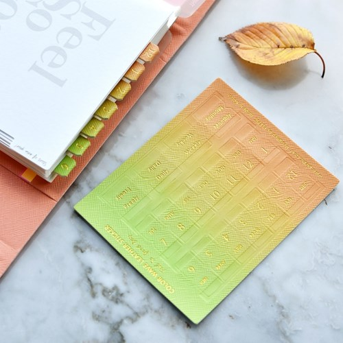 Color Wave Leather Sticker (가죽 인덱스 스티커)