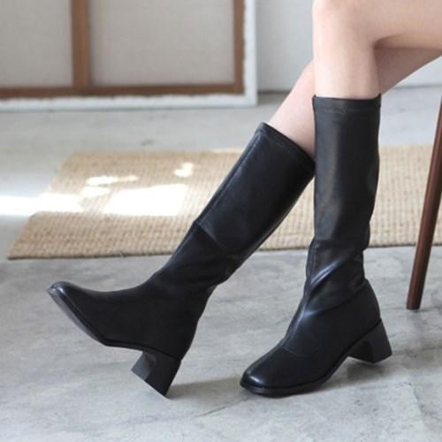 kami et muse 5.5cm middle heel elasitc long boots_KM19w140