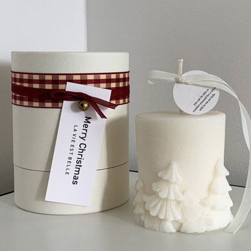 White Christmas Candle
