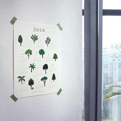 1+1 2020년 달력 (나무 포스터 달력)