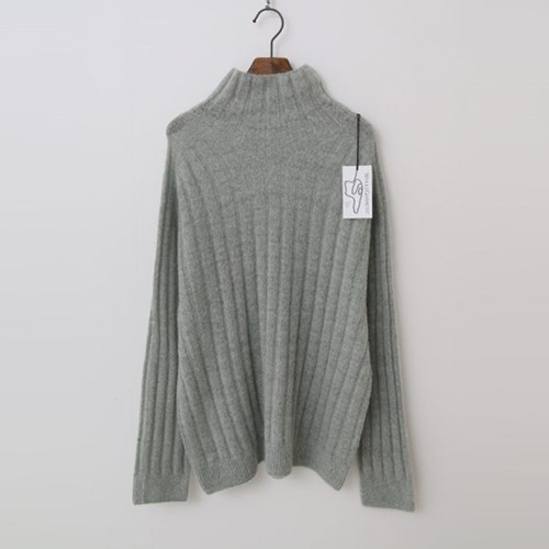 Laine Mohair Alpaca Wool Turtleneck Sweater