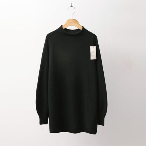 Laine Cashmere Wool Roll Sweater