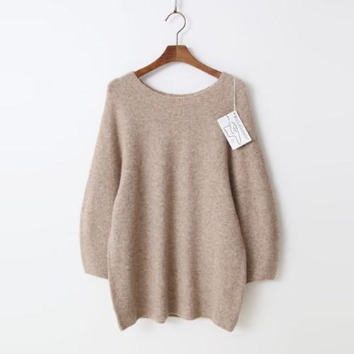 Laine Yak Wool Round Sweater - 9부소매