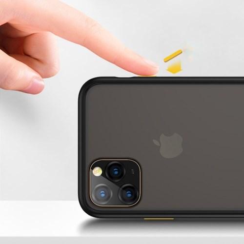 위시비 벤크스 아이폰11 PRO MAX 매직범퍼 반투명 컬러 버튼 케이스