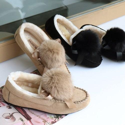 kami et muse Fur drop stitch fur loafers_KM19w146