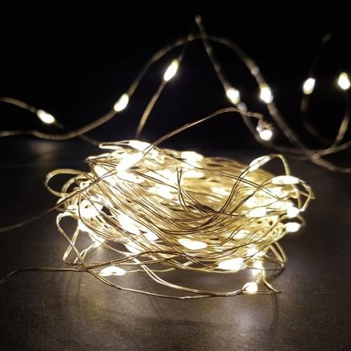 LED 와이어전구 100구(10m) 건전지형